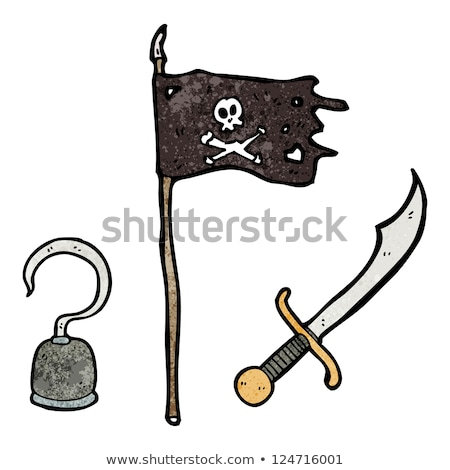 cartoon pirate with a hook and cutlass stock photo © antonbrand
