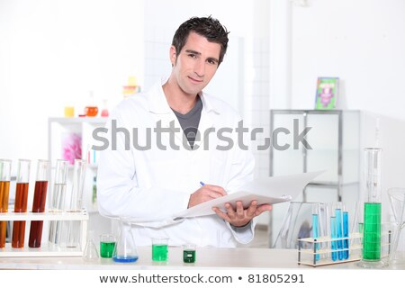 Chemistry student performing a series of tests Stock photo © photography33