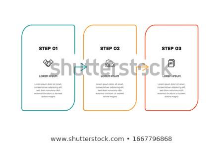 Graphique photos couleur colonnes informations données Photo stock © jirisolecito