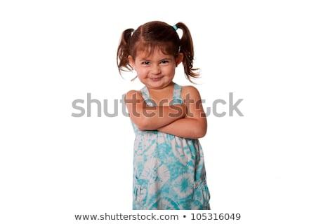 Little toddler rascal girl Stock photo © phakimata