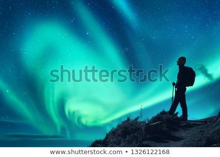 Yürüyüş kuzey İskandinavya yaz doğa dağ Stok fotoğraf © ildi
