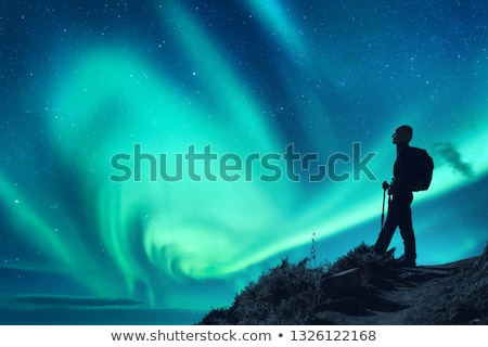 Hiking in Northern Scandinavia Stock photo © ildi