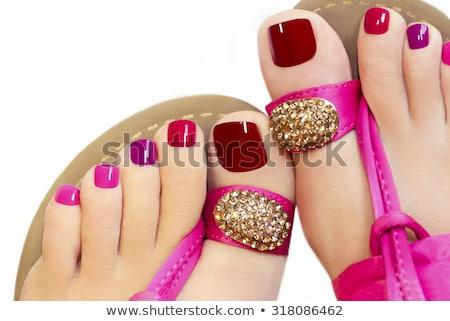 Sandals on female feet Stock photo © Nobilior