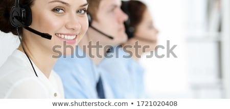 Cara telefone operador menina telefone microfone Foto stock © photography33