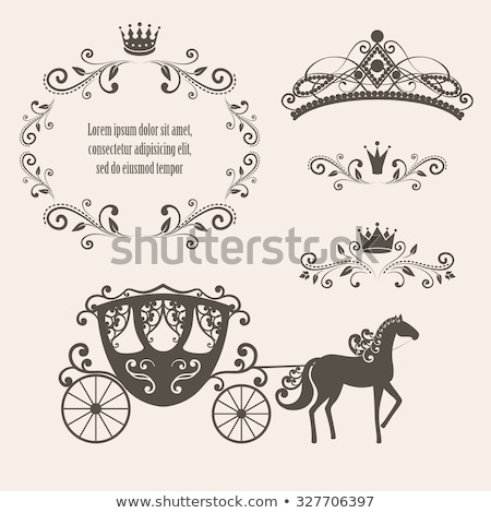 mooie · prinses · paard · cute · jurk · roze - stockfoto © dazdraperma