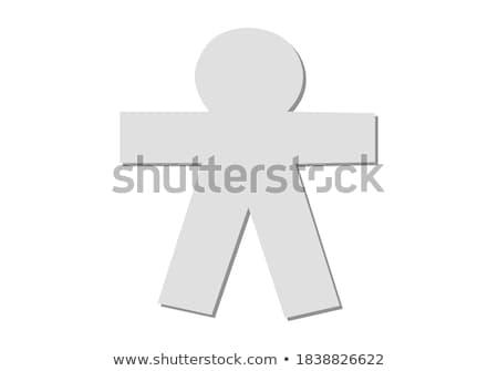 無邪気な 小さな ブルネット 女性 孤立した 白 ストックフォト © Mazirama