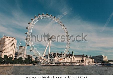 Londra · göz · Cityscape · gece · Büyük · Britanya · gökyüzü - stok fotoğraf © vichie81