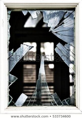 rupt · de · sticlă · fisuri · avarie · violenţă · vandalism · pericol - imagine de stoc © pzaxe