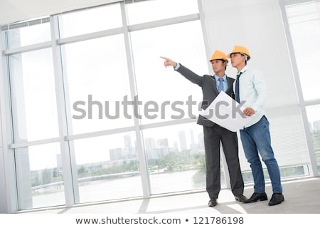 Construction Inspector - Copyspace Stock photo © lisafx