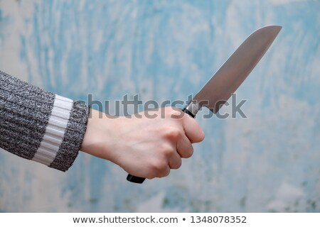 Crazy butcher with large knife Stock photo © sumners