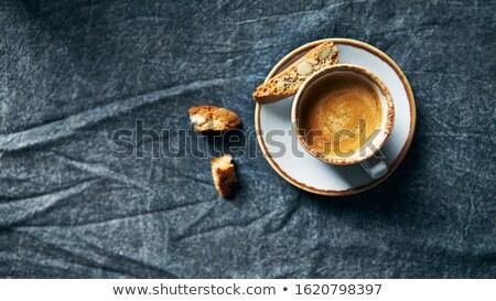 чашку · кофе · печенье · белый · завтрак · Кубок · Sweet - Сток-фото © m-studio