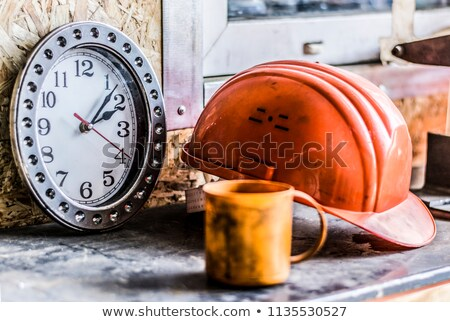 Builder with a clock Stock photo © photography33