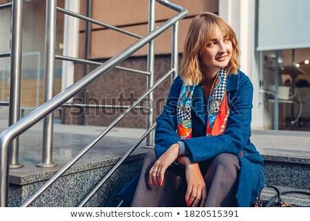 Stockfoto: Portret · vergadering · jonge · vrouw · verkwistend · kleding