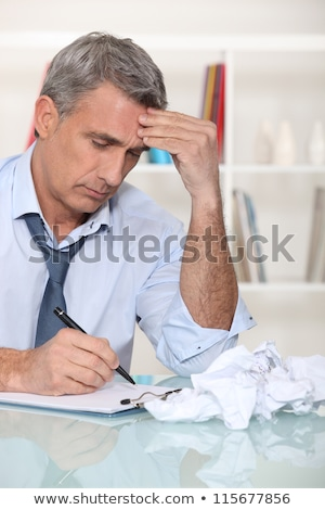 Zakenman business man bureau stress senior Stockfoto © photography33