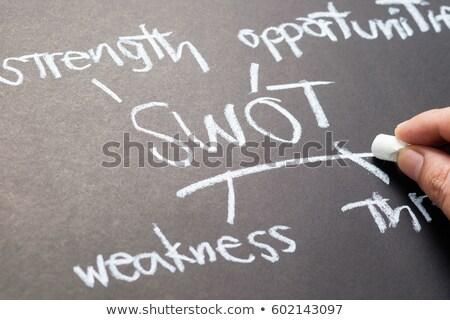 Chalkboard writing - SWOT Stock photo © raywoo