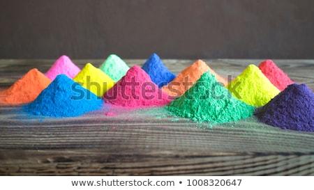 Szín pigment szeletel közelkép fotó háttér Stock fotó © ajfilgud