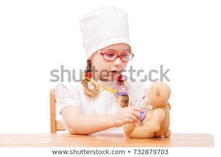 Korkutucu küçük kız hap teklif büyü vektör Stok fotoğraf © damonshuck