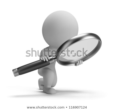 3d small people with a magnifier stock photo © anatolym