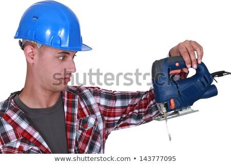 Artisan regarder forage étonné visage construction Photo stock © photography33