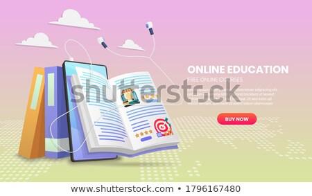Tutorial online oktatás szó piros szín egyéb Stock fotó © tashatuvango