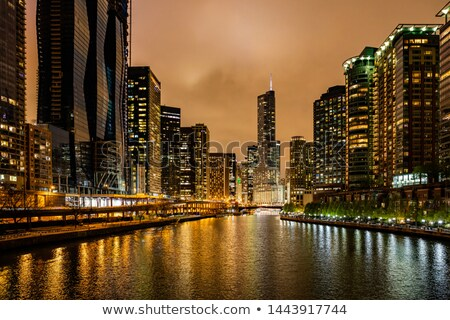 Cityscape of  Chicago in the evening Stock photo © AndreyKr