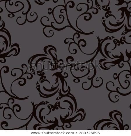 Dunkel Damast Innenraum leer royal Wand Stock foto © TLFurrer
