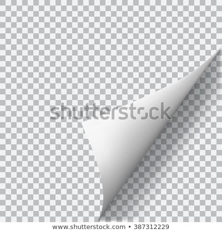 Papier ondulé jaune papier blanche derrière Photo stock © raywoo