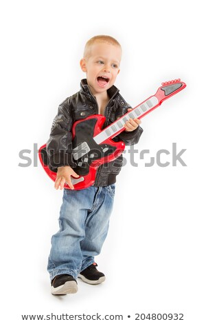 Boy posing with his electric guitar Stock photo © photography33