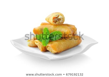 жареный весны ресторан китайский блюдо Сток-фото © M-studio