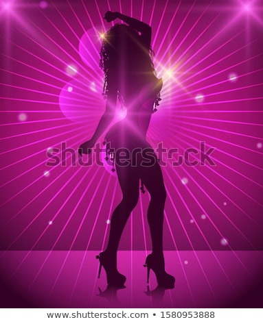 silhouette girl stripper stock photo © urchenkojulia
