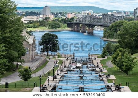 運河 オタワ カナダ ユネスコ 世界 遺産 ストックフォト © bigjohn36