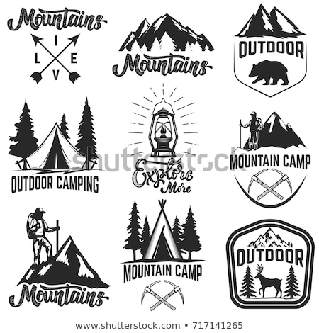 Camping symbols Stock photo © mikemcd