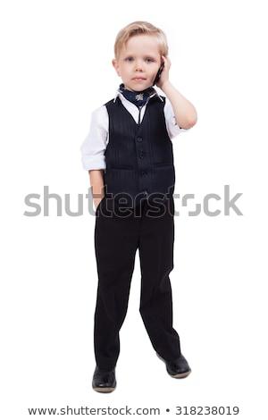 Vicces fiú érintés 5 éves izolált fehér Stock fotó © Elegies