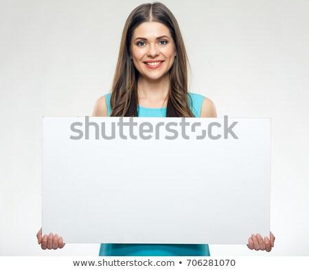 belo · mulher · jovem · cabelos · longos · mulher - foto stock © Nobilior