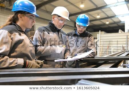 Endüstriyel manzara Bina çalışmak teknoloji Metal Stok fotoğraf © martin33