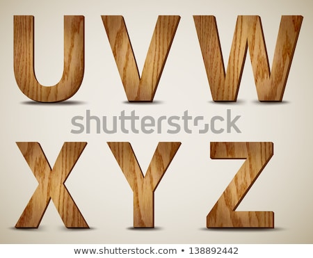 wooden alphabet - letter U Stock photo © ozaiachin