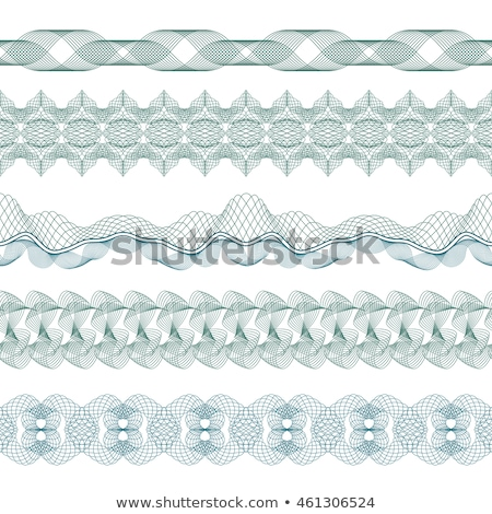 Set of  guilloche element for certificate, money design Stock photo © fotoscool