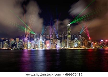 Hong · Kong · puerto · noche · tiempo · negocios · oficina - foto stock © joyr