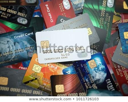 Ilustração 3d grupo cartões de crédito diferente Foto stock © kolobsek
