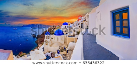 incroyable · blanche · maisons · santorin · Grèce · mariage - photo stock © tannjuska