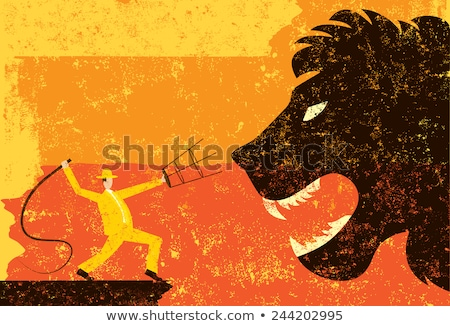 lion tamer stock photo © cteconsulting