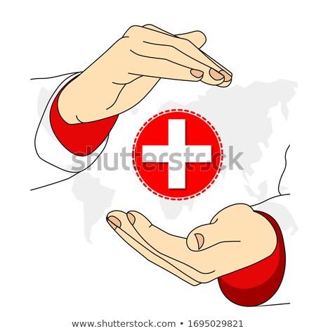 Heart medical cross. EPS 8 Stock photo © beholdereye