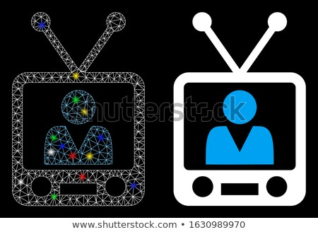 abstract glossy television icon Stock photo © rioillustrator