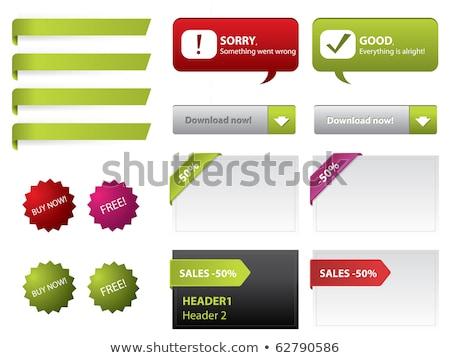 Web afiş ayarlamak kutuları kalemler afişler Stok fotoğraf © obradart