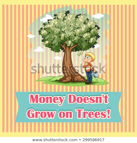 Stock photo: Money Does Grow on Trees