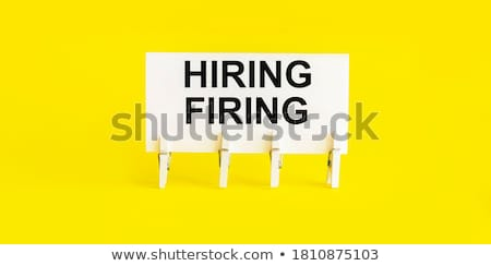 yellow paper note with text we are hiring stock photo © zerbor