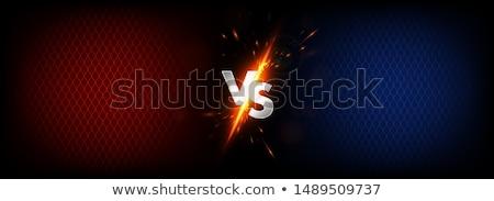 Boksen nacht poster sport Blauw lint Stockfoto © radivoje