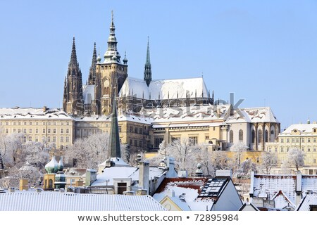 hradcany castle in winter Stock photo © courtyardpix
