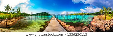 Idyllic beach with jetty Stock photo © zzve