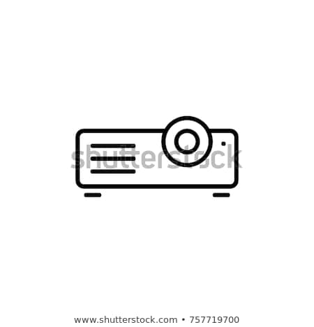 Icono proyector árbol Foto stock © zzve
